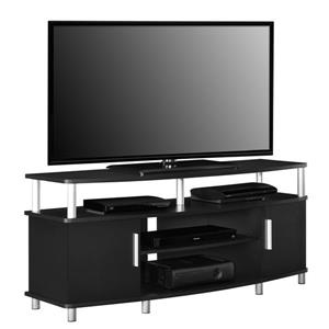 "Ameriwood Home Carson TV Stand for TVs up to 50"" - 2 Doors - Black"