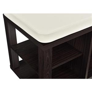 Ameriwood Home Parsons Bench with Open Storage - Espresso