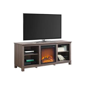 """Ameriwood Home Edgewood TV Console with Fireplace for TVs up to 60"""" - Brown"""