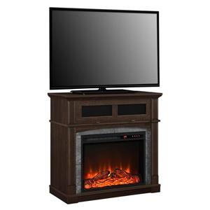 Ameriwood Home Thompson TV Stand with Electric Fireplace for TVs up to 37""