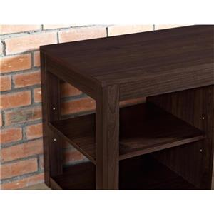 "Ameriwood Home Parsons TV Stand - TVs up to 65"" - Fireplace - Espresso"