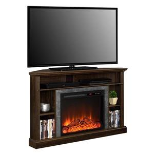 "Ameriwood Home Overland Corner TV Stand for TVs up to 50"" with Fireplace"