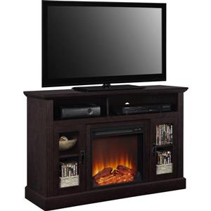 """Ameriwood Home Fireplace with TV Stand - For TVs up to a 50"""" - Espresso"""