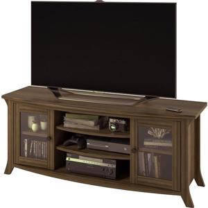 """Ameriwood Home Oakridge TV Stand with Glass Doors for TVs up to 60"""" - Brown"""