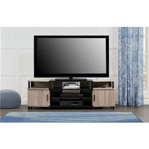 "Ameriwood Home Carson TV Stand for TVs up to 70"" - 2 Doors - Gray Oak"