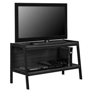 """Ameriwood Home Lawrence TV Stand for TVs up to 45"""" - Open Storage - Black"""