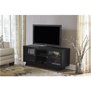 """Ameriwood Home Englewood TV Stand for TVs up to 55"""" - 2 Doors - Black"""