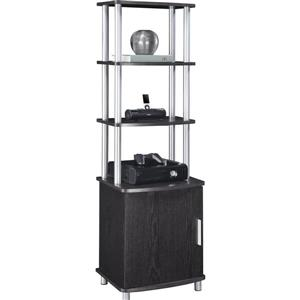 Ameriwood Home Carson Audio Stand - 1 Door and Open Shelves - Espresso