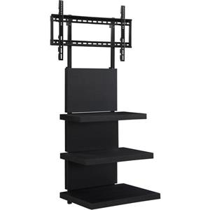"""Ameriwood Home Elevation TV Stand - TVs up to 60"""" - Open Storage - Black"""
