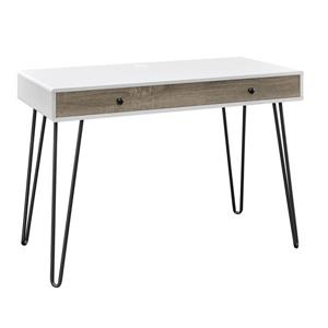 Ameriwood Home Owen Retro Desk With Drawer White Lowe