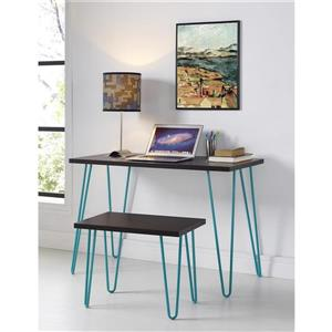 Ameriwood Home Owen Retro Desk - Espresso/Teal