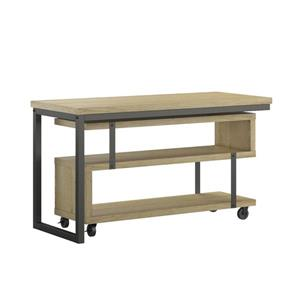 Ameriwood Home Ryker L-Shaped Swivel Desk - Golden Oak