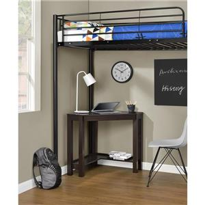 Ameriwood Home Parsons Corner Desk - Espresso