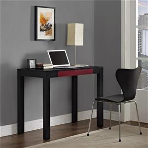 Ameriwood Home Parsons Desk with Drawer - Black/Red