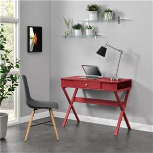 Ameriwood Home Paxton Campaign Desk - Red