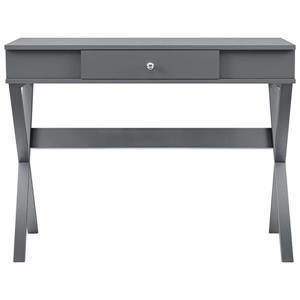 Ameriwood Home Paxton Campaign Desk - Graphite Gray