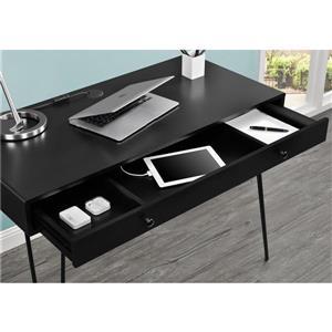 Ameriwood Home Owen Retro Desk with Drawer - Black