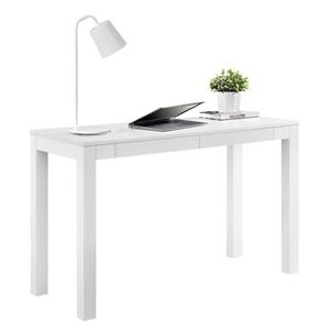 Ameriwood Home Large Parsons Desk with 2 Drawers - White