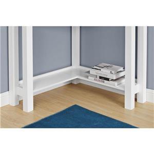 Ameriwood Home Parsons Corner Desk - White