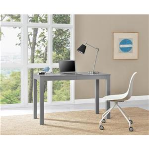 Ameriwood Home Large Parsons Desk with 2 Drawers - Gray