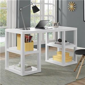 Ameriwood Home Parsons Deluxe Desk - White