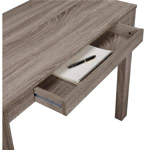 Ameriwood Home Parsons Desk with Drawer - Gray Oak