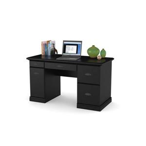 Ameriwood Home Computer Desk with Drawers - Black Oak