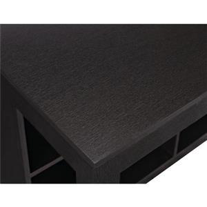 Ameriwood Home Parsons Desk with Cubbies - Black