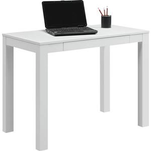 Ameriwood Home Parsons Desk with Drawer - White