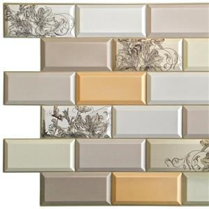 Dundee Deco PVC 3D Wall Panel - Bricks with Flowers