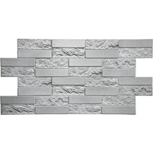 Dundee Deco 3D Wall Panel Grey Faux Cement Brick - 3.2' x 1.6'