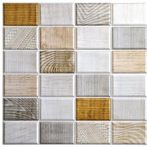 Dundee Deco PVC 3D Wall Panel - White, Beige, Brown Wood Stamps