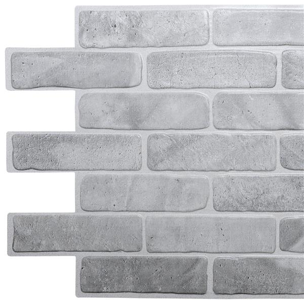 Dundee Deco Vintage Grey Faux Brick 3d Wall Panel 3 4 X 1 6 Lowe S Canada
