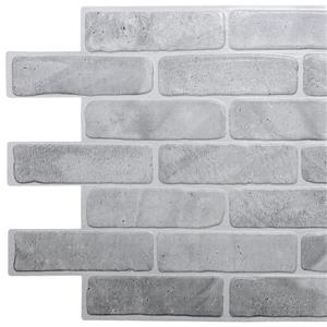 Dundee Deco Vintage Grey Faux Brick 3D Wall Panel - 3.4' x 1.6'