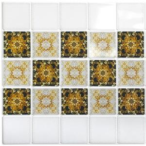 Dundee Deco PVC 3D Wall Panel - Gold Abstract Fractal Patterns