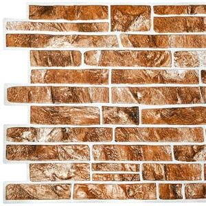 Dundee Deco PVC 3D Wall Panel - Light Brown Faux Slate - 3.4' x 1.6'