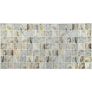 Dundee Deco 3D Wall Panel Beige and Grey Venetian Marble