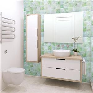 Dundee Deco PVC 3D Wall Panel - All Shades of Green Pearl Squares