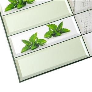 Dundee Deco PVC 3D Wall Panel - Green Mint Leaves - 3.1' x 1.6'