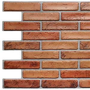 Dundee Deco 3D Wall Panel Dark Red Natural Faux Bricks - 3.2' x 1.6'