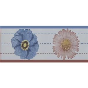 Dundee Deco Wallpaper Border - Beige Brown Mauve Flowers Floral