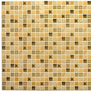 Dundee Deco 3D Wall Panel - Dark Brown Distressed Mosaic