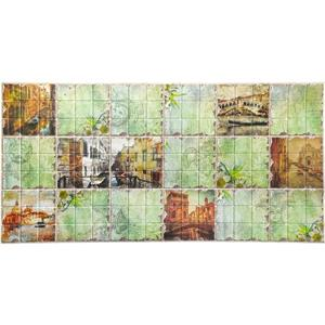 Dundee Deco PVC 3D Wall Panel - Multicolor Distressed Venice Sights