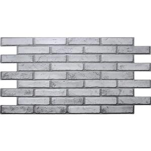 Dundee Deco 3D Wall Panel Off White Grey Faux Brick - 3.2' x 1.6'
