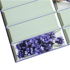 Dundee Deco PVC Wall Panel - Violet Lavender Flowers - 3.1' x 1.6'