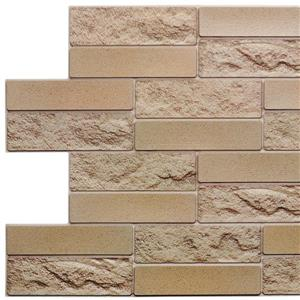 Dundee Deco 3D Wall Panel Mustard Yellow Faux Brick - 3.2' x 1.6'