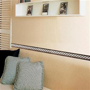 Dundee Deco Wallpaper Border - Faux Victorian White Gold Mauve Rope