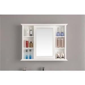 GEF Willow Vanity Set with Medicine Cabinet, Quartz Top, 36-in