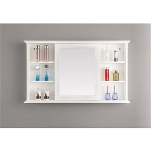 GEF Willow Vanity Set with Medicine Cabinet White 48in
