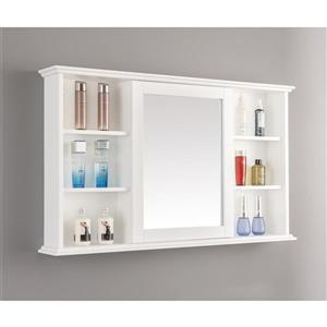 GEF Willow Vanity Set with Medicine Cabinet, Quartz Top, 48-in